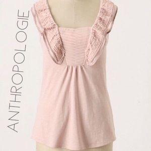 3/$50 Anthro Deletta Heliconius blush raw top M